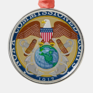 NOAA Commissioned Corps seal Metal Ornament
