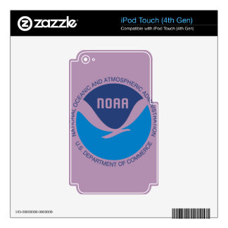 NOAA CALCOMANÍAS PARA iPod TOUCH 4G