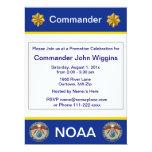"NOAA Lieutenant Commander Invitation 6.5"" X 8.75"" Invitation Card"