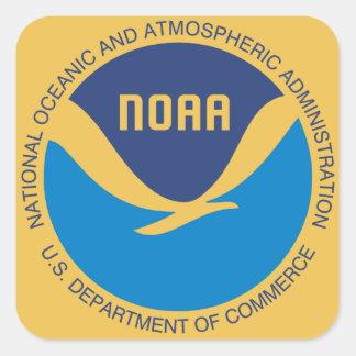 NOAA PEGATINA CUADRADA