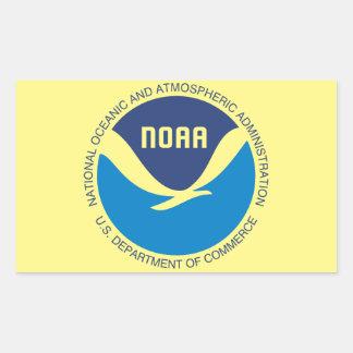 NOAA PEGATINA RECTANGULAR