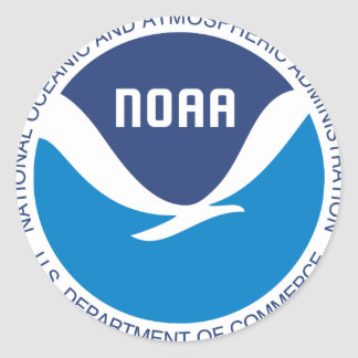 NOAA PEGATINA REDONDA
