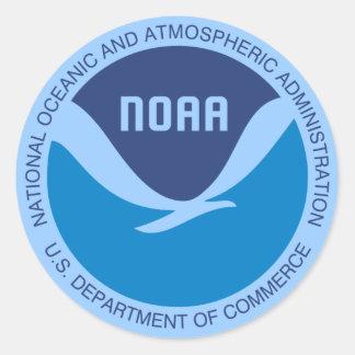 NOAA ROUND STICKERS