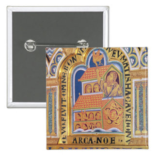 Noah and Ark, detail one of panels Verduner 2 Inch Square Button