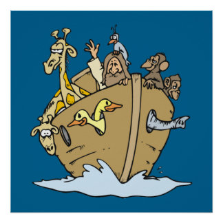 noah and ark poster