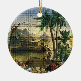Noah and the Ark Ceramic Ornament