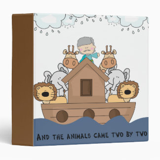 Noah and the Ark Full of Animals Binder