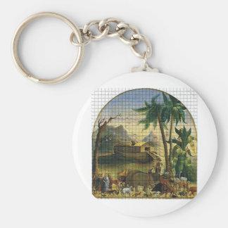 Noah and the Ark Keychain