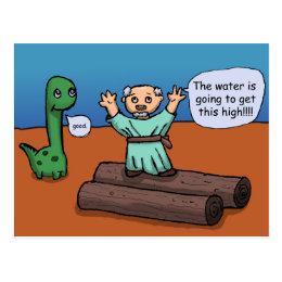 Noah and the Flood Postcard
