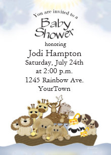 Noah Ark Baby Shower Invitation