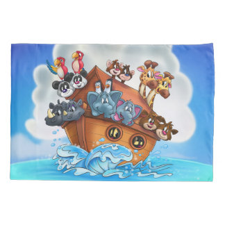 Noah Ark cartoon pillowcase for kids room