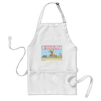 noah ark fresh air giraffe adult apron
