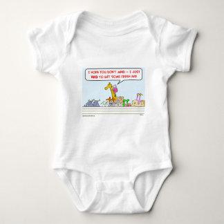 noah ark fresh air giraffe baby bodysuit