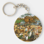 NOAH, ARK: ORIGINAL PAINTING: AFTER FLOOD BASIC ROUND BUTTON KEYCHAIN