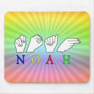 NOAH ASL FINGERSPELLED NAME SIGN MOUSE PAD