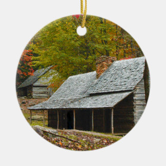 "Noah ""Bud"" Ogle Cabin in the Smokies Ceramic Ornament"
