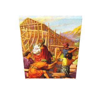 Noah construye la génesis 6 de la arca lona envuelta para galerías
