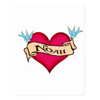 Noah - Custom Heart Tattoo T-shirts & Gifts Post Card