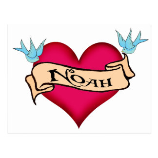 Noah - Custom Heart Tattoo T-shirts & Gifts Postcard