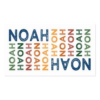 Noah Cute Colorful Business Card