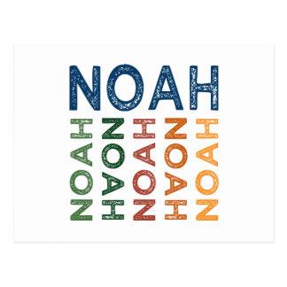 Noah Cute Colorful Post Card