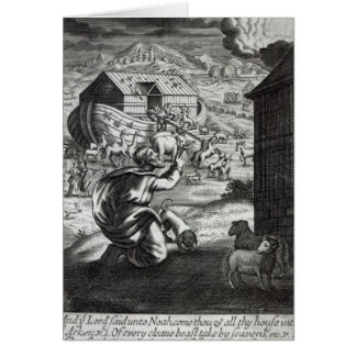 Noah entreth the Ark Card