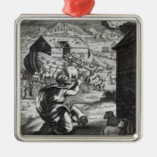 Noah entreth the Ark Metal Ornament