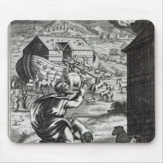 Noah entreth the Ark Mouse Pad