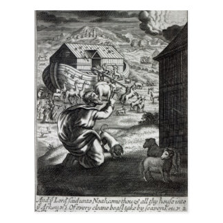 Noah entreth the Ark Postcard