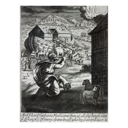 Noah entreth the Ark Postcard