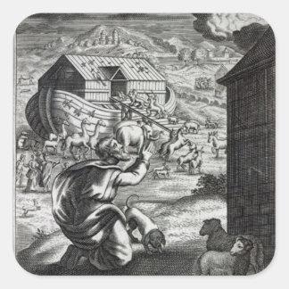 Noah entreth the Ark Square Sticker