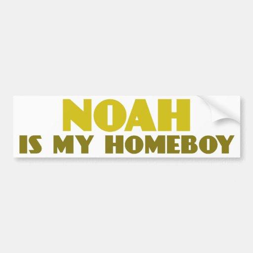 Noah es mi Homeboy Pegatina De Parachoque