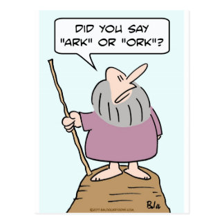 noah god ark ork bible flood postcards