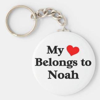 Noah has my heart keychain