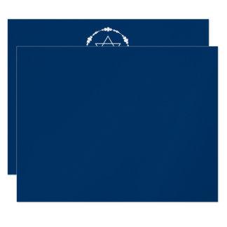 Noah Jack Bar Mitzvah Reception Navy Blue METALLIC Card