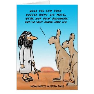 Noah Meets Some Australians Card