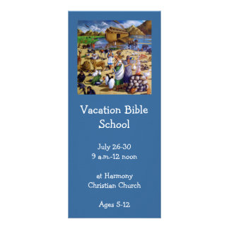 NOAH PAINTING: VACATION BIBLE SCHOOL INVITATION