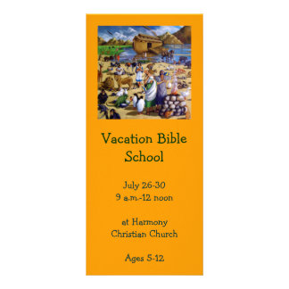 NOAH PAINTING: VACATION BIBLE SCHOOL INVITATION RACK CARD