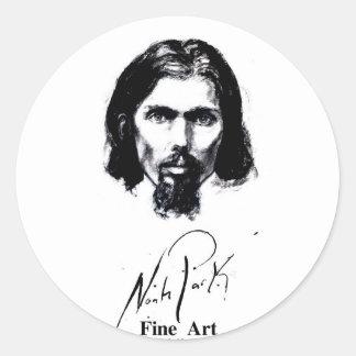 Noah Park Self Portrait Round Stickers