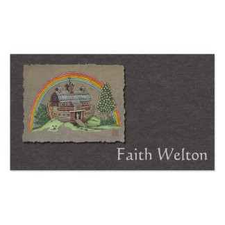 Noah's Ark Barn Double-Sided Standard Business Cards (Pack Of 100)