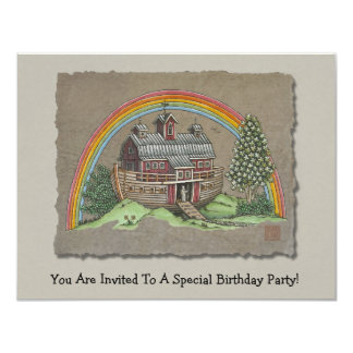 Noah's Ark Barn Card