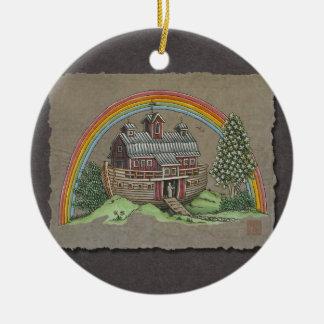 Noah's Ark Barn Ceramic Ornament