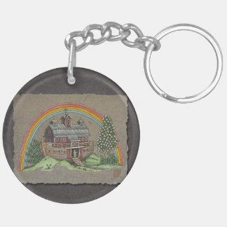 Noah's Ark Barn Keychain