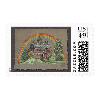Noah's Ark Barn Postage Stamps