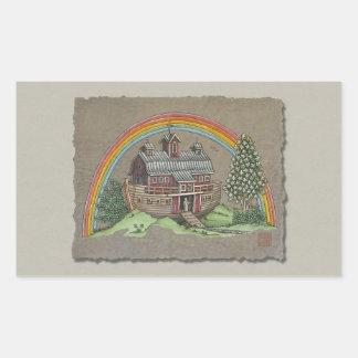 Noah's Ark Barn Rectangular Sticker