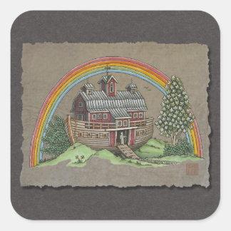 Noah's Ark Barn Square Sticker