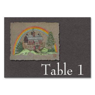 Noah's Ark Barn Table Cards