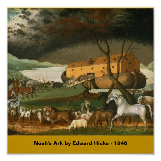 Noah s Ark by Edward Hicks - 1846 Posters