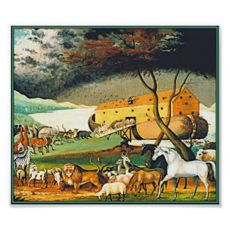 Noah s Ark by Edward Hicks - All the animals Poster