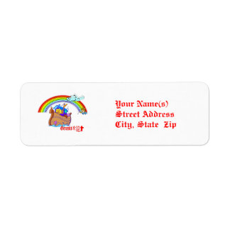 Noah's Ark Custom Return Address Labels